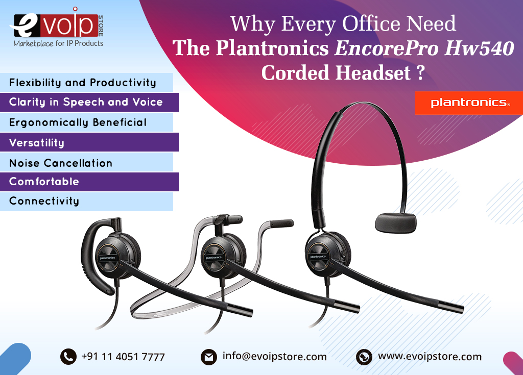 Why Every Office Need The Plantronics EncorePro Hw540 Corded Headset